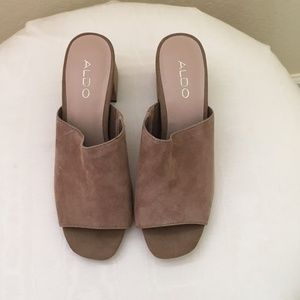 Aldo Chunky Heel Slides/Mules